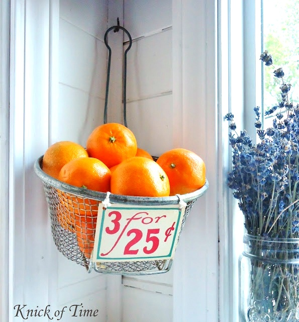 antique fry basket, by Knick of Time, featured on https://www.funkyjunkinteriors.net