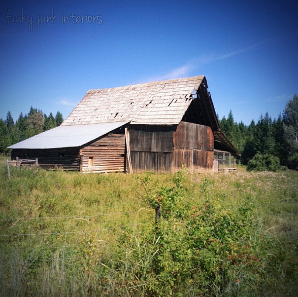 A beautiful old barn - part of Summer Adventure 7 / sights, miracles and lessons learned via Funky Junk Interiors