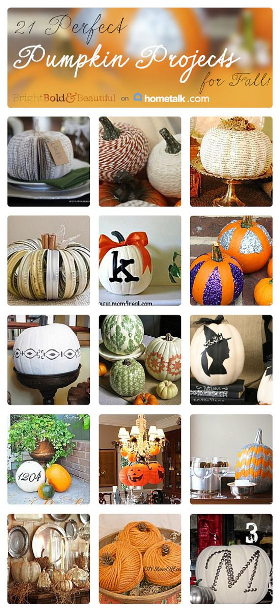 21 Perfect Pumpkin Projects, curated from Hometalk
