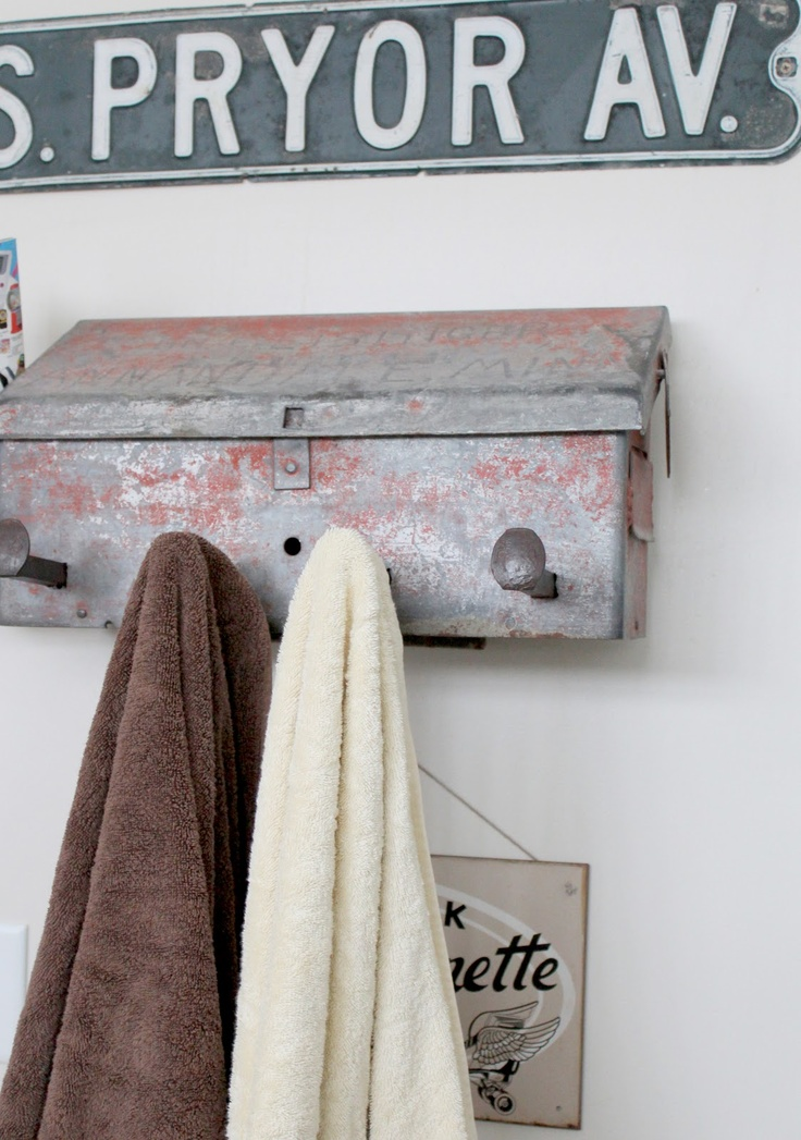 mailbox towel holder by Bliss Ranch, featured on https://www.funkyjunkinteriors.net