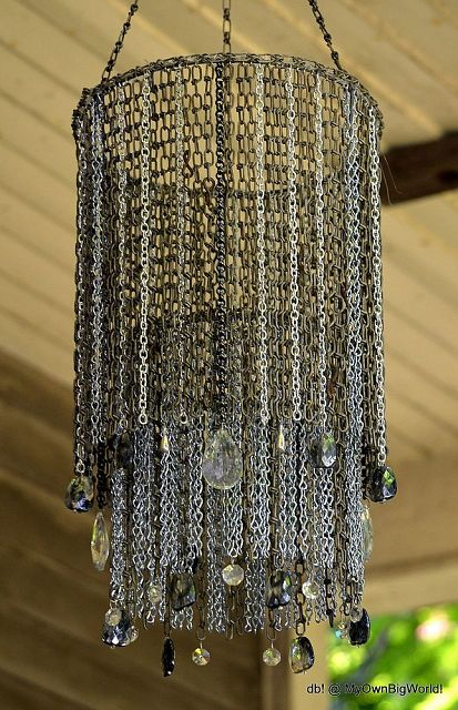 Amazing chaindelier, by My Own Big World on Hometalk, featured on https://www.funkyjunkinteriors.net