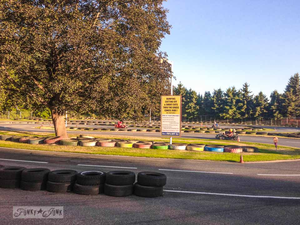 Salmon Arm Go Karts - part of Summer Adventure 7 / sights, miracles and lessons learned via Funky Junk Interiors