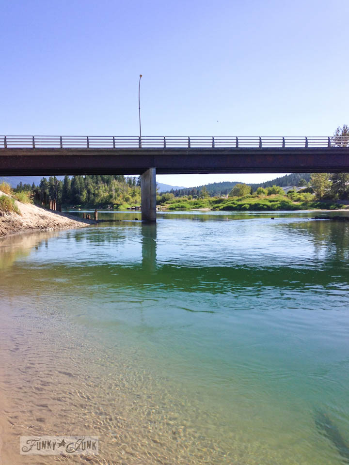 Enderby's river  - part of Summer Adventure 7 / sights, miracles and lessons learned via Funky Junk Interiors