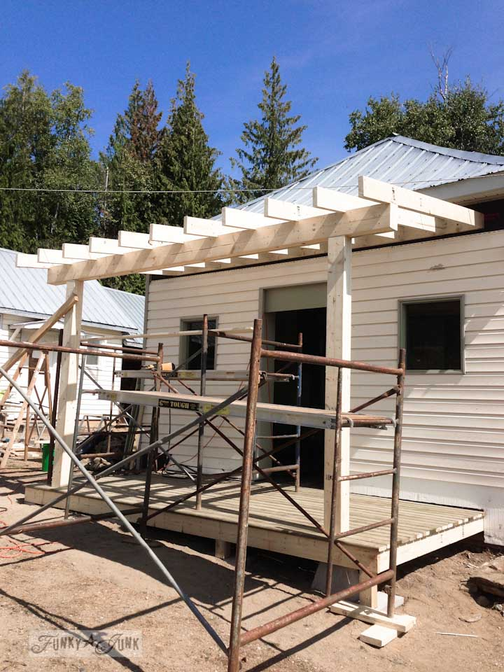 The building of a front porch in Salmon Arm - part of Summer Adventure 7 / sights, miracles and lessons learned via Funky Junk Interiors
