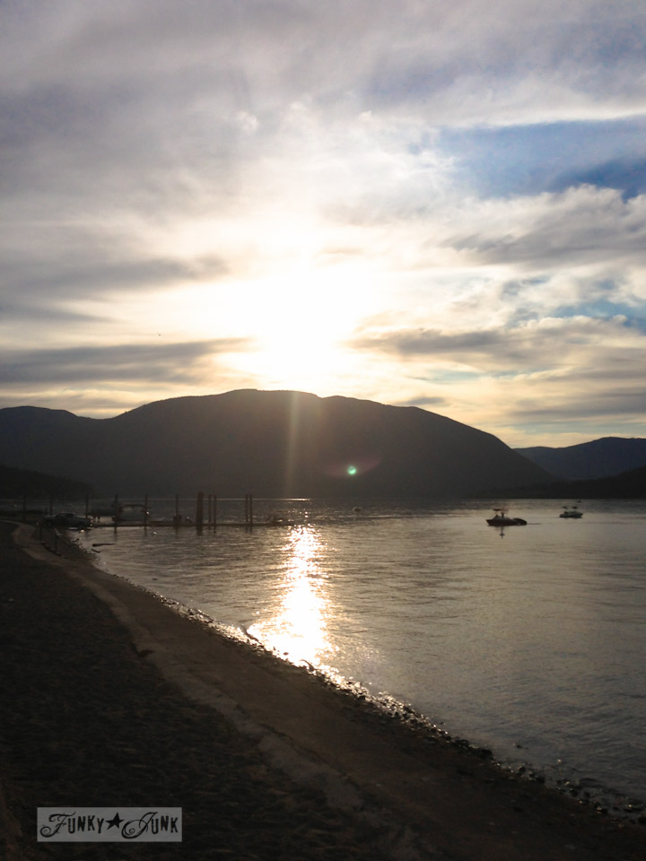 Sunset at Canoe Beach in Salmon Arm - part of Summer Adventure 7 / sights, miracles and lessons learned via Funky Junk Interiors
