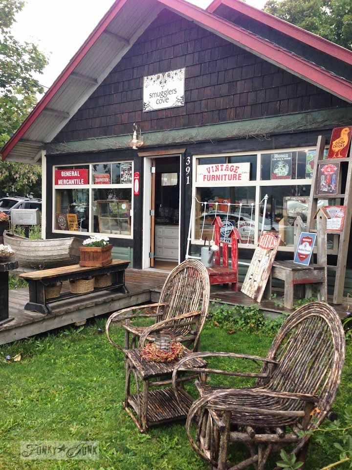 Smugglers Cove Vintage Furniture in Salmon Arm - part of Summer Adventure 7 / sights, miracles and lessons learned via Funky Junk Interiors