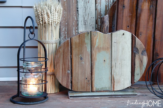 Rustic reclaimed wood pumpkin by Finding Home at Infarrantly Creative