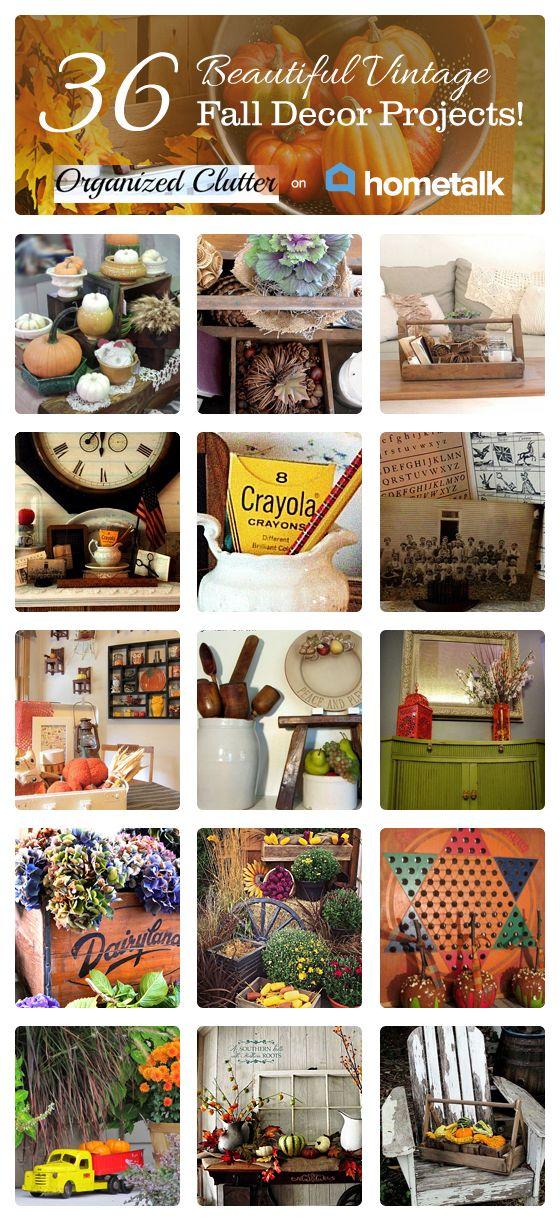 36 Beautifully Vintage Fall Decor Projects, curated by Organized Clutter featured on Hometalk