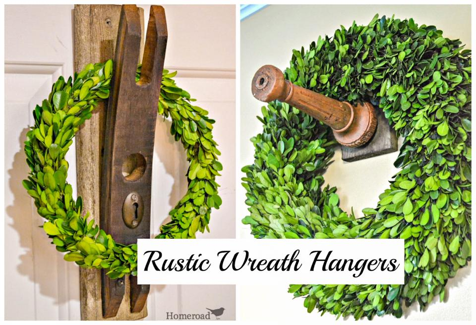 Junky wreath hangers by Homeroad, featured on Funky Junk Interiors