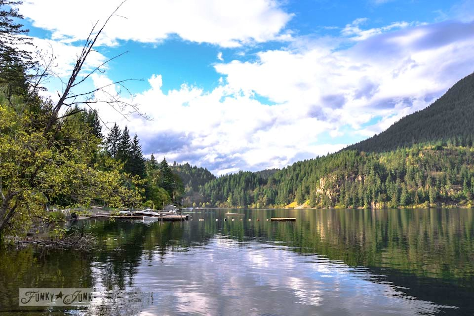Kawkawa Lake in Hope, BC, part of  / The message from the amazing sights of Hope vis https://www.funkyjunkinteriors.net/