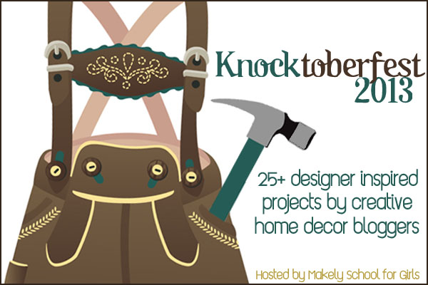 Knocktoberfest Banner / A Pottery Barn inspired oil funnel gear junk lamp, via http://www.funkyjunkinteriors.net/