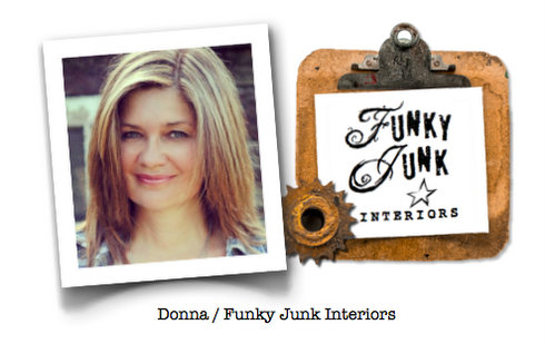 Donna / Funky Junk Interiors / Junkers United, a pin board / part of Junkers Unite with junky kitchen cupboards, a pin board and a link up! via https://www.funkyjunkinteriors.net/