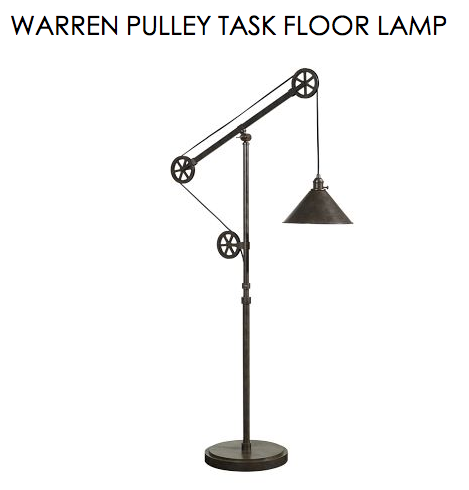 Pottery Barn Warren Pulley Task Floor Lamp