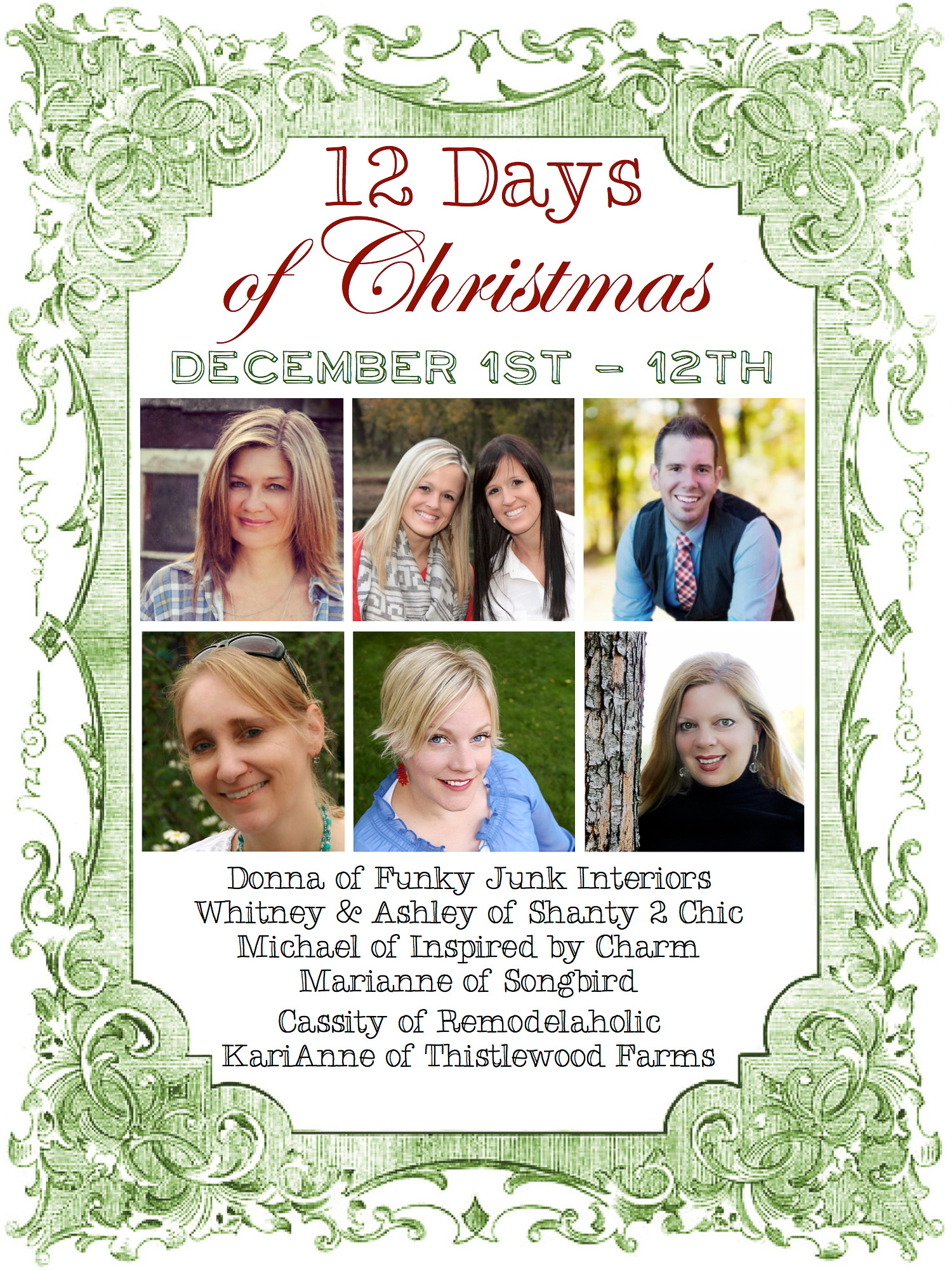 12 Days of Christmas 2013 via https://www.funkyjunkinteriors.net/
