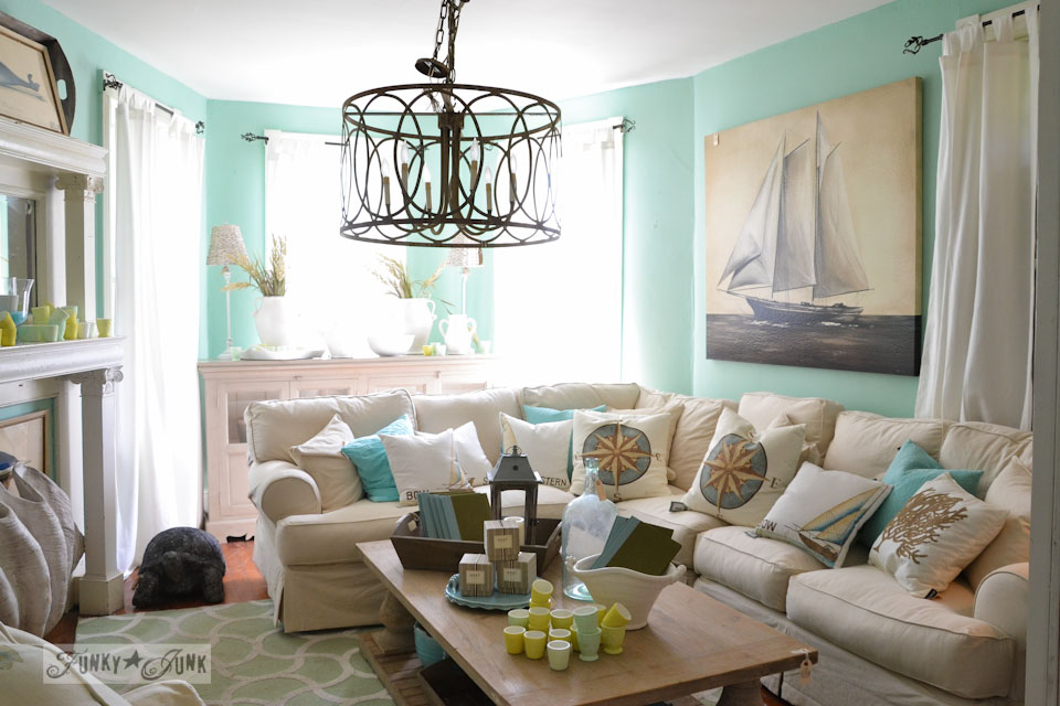 Beach inspired room  / 9 - A tour of Lucketts Design House via https://www.funkyjunkinteriors.net/