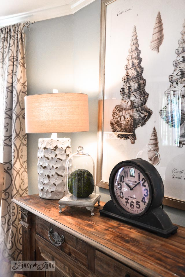 Sea shell art / 9 - A tour of Lucketts Design House via https://www.funkyjunkinteriors.net/
