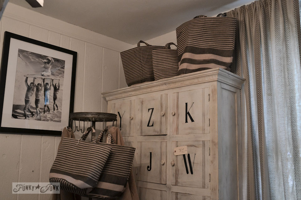 Alphabet cabinet / 9 - A tour of Lucketts Design House via https://www.funkyjunkinteriors.net/