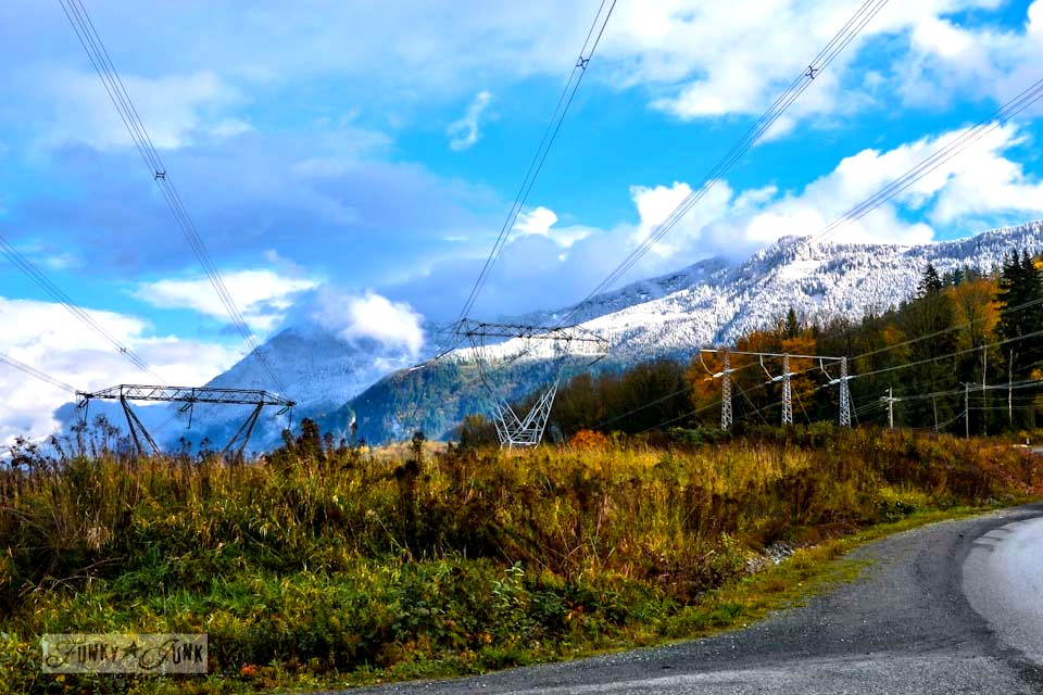 Snow on Chilliwack Mountains / Unplugging and retreating at Charis Camp - fall photography and an experience via https://www.funkyjunkinteriors.net/