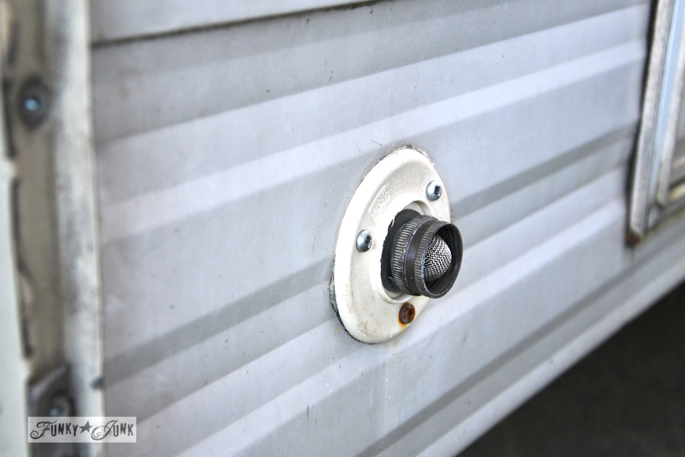 How to winterize an rv by blowing out the lines. No messy antifreeze in your drinking water! via https://www.funkyjunkinteriors.net/