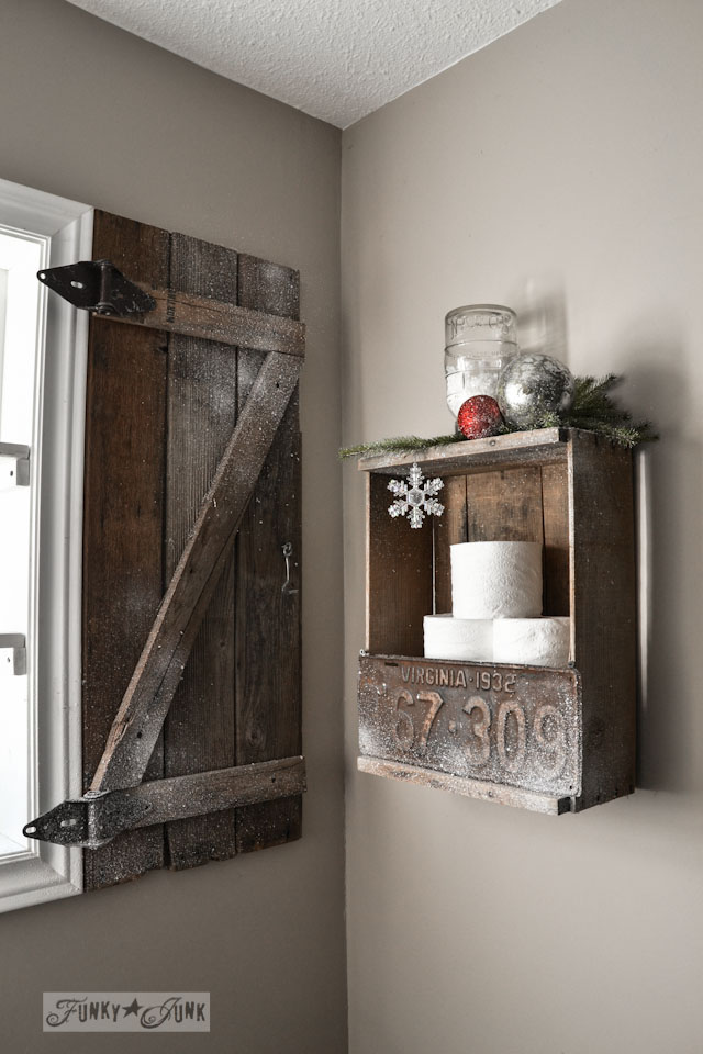 How to build your own barn wood shutter via https://www.funkyjunkinteriors.net/
