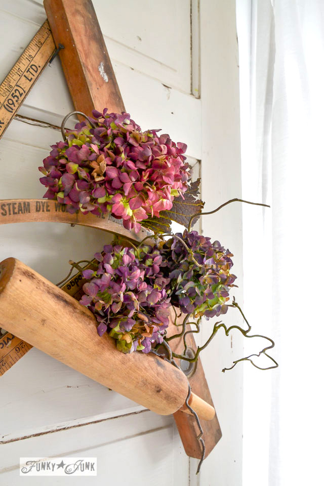 Vintage yardstick star fail / How to make a DIY #FAILURE a success via FunkyJunkInteriors.net