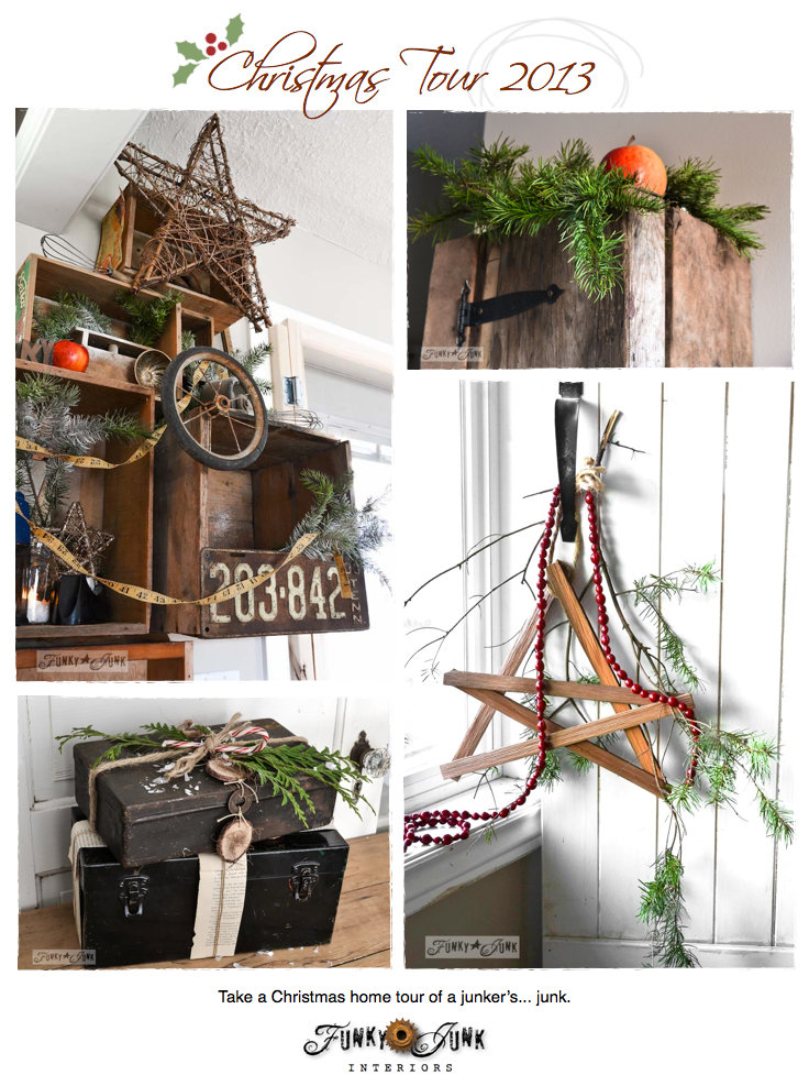 Funky Junk Interiors Christmas Home Tour 2013 via https://www.funkyjunkinteriors.net/