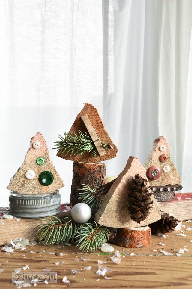 firewood end Christmas trees / funkyjiunkinteriors.net