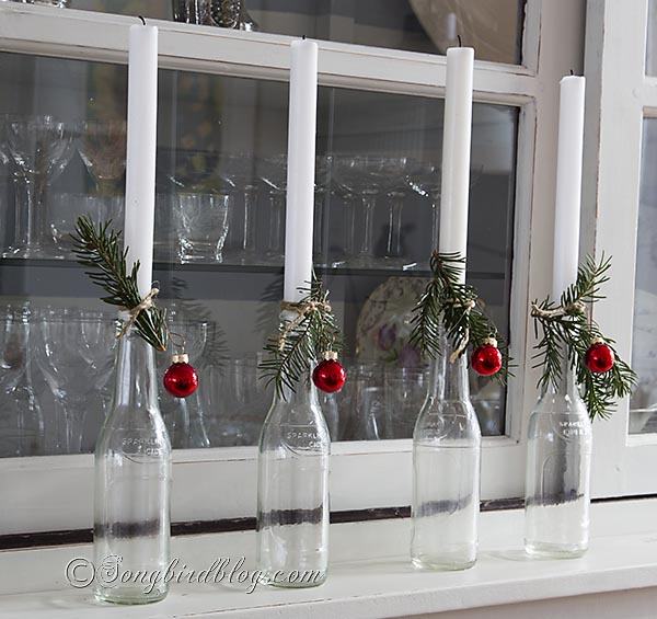 Cider bottle Christmas candles by Songbird