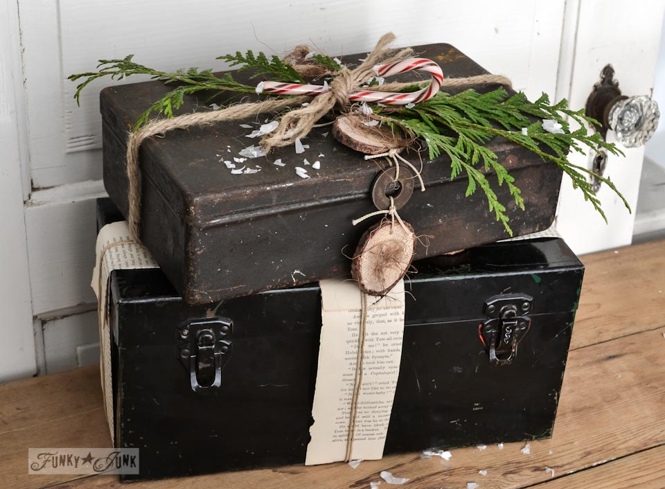 Pretend toolbox Christmas presents via FunkyJunkInteriors.net