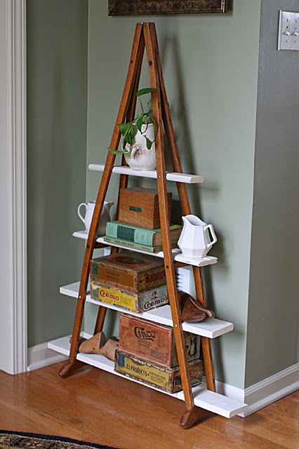 Crutches shelving by Mamie Jane's