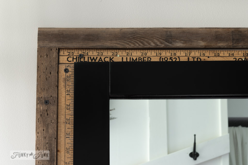Yardstick framed mirror via FunkyJunkInteriors.net