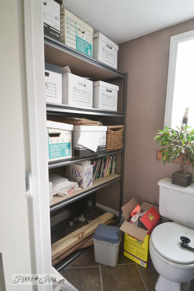 File storage / The bathroom vanity is undecided... which room? https://www.funkyjunkinteriors.net/