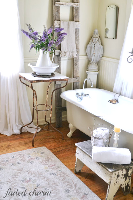 Vintage inspired bathroom by Faded Charm