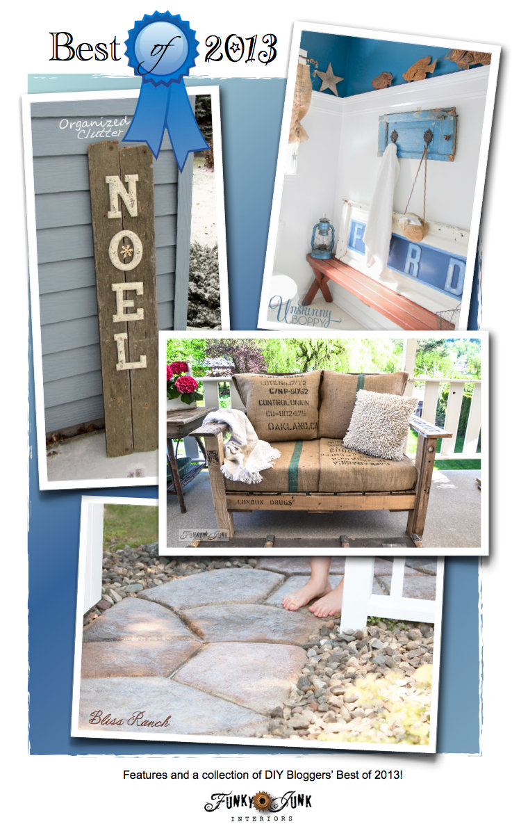 Best of 2013 - features and a collection of DIY Bloggers' Best projects of 2013 via https://www.funkyjunkinteriors.net/
