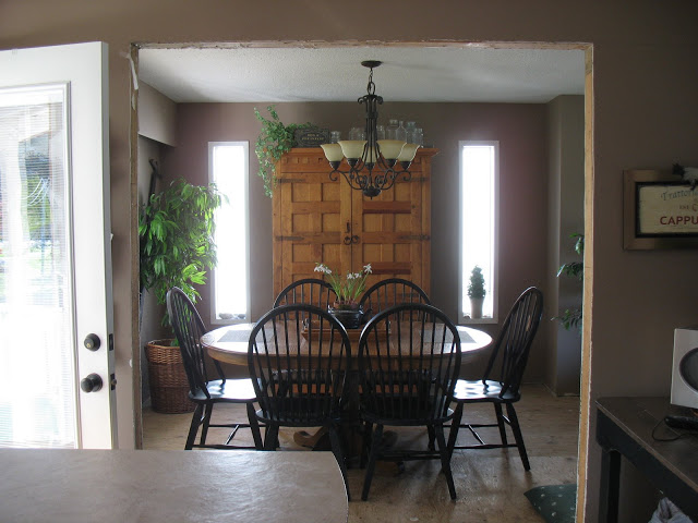 Old dining room before / How to create a new room you NEED. Part of the series, Reclaim Your Space, via https://www.funkyjunkinteriors.net