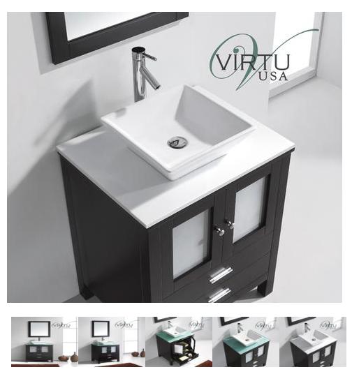 Virtu USA bathroom vanity https://www.funkyjunkinteriors.net/