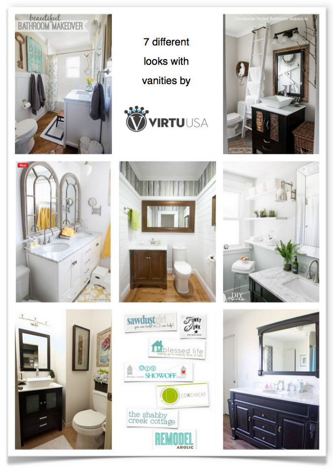 7 amazing bathroom makeovers! Outstanding transformations in every style via https://www.funkyjunkinteriors.net/