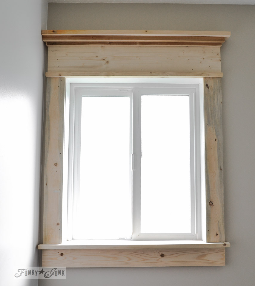 Window Moulding Parts / Make A Farmhouse Window   Add Window Trim To Beef  Up A