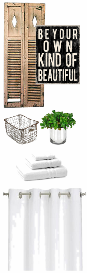 Accessorize with elements you love / How to decorate a bathroom rustic / decorating advice via FunkyJunkInteriors.net
