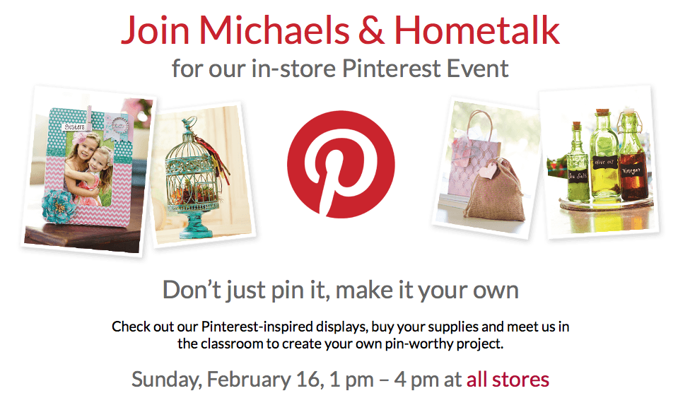 Michaels and Hometalk in store Pinterest Event
