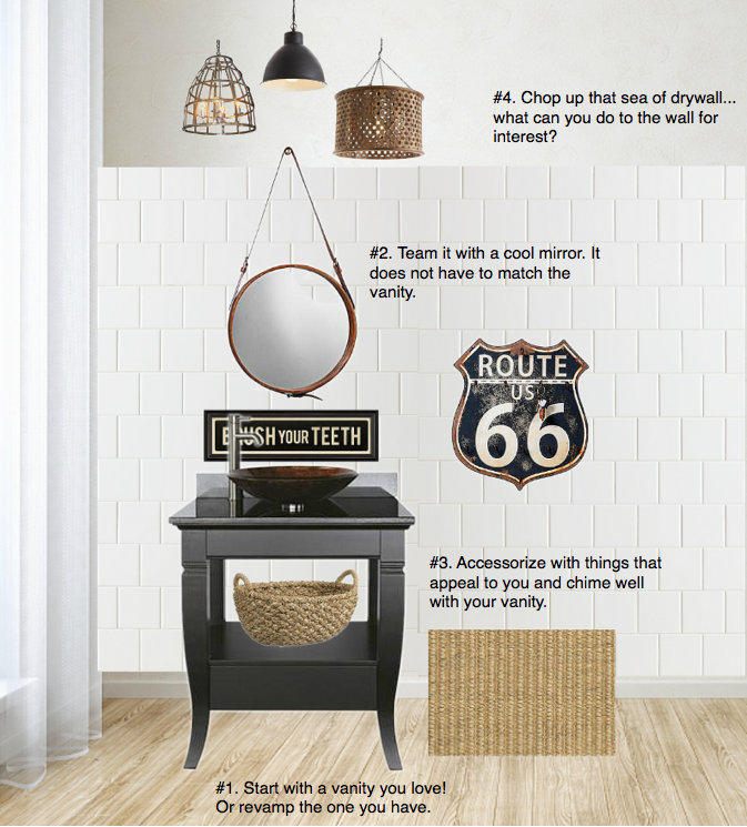 You Asked - How to decorate a bathroom rustic / decorating advice via FunkyJunkInteriors.net
