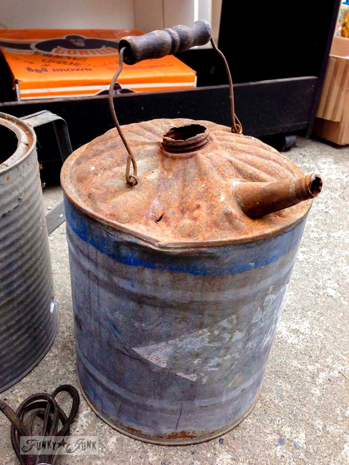Rusty gas can / Junk finds... what would you do with ? via FunkyJunkInteriors.net