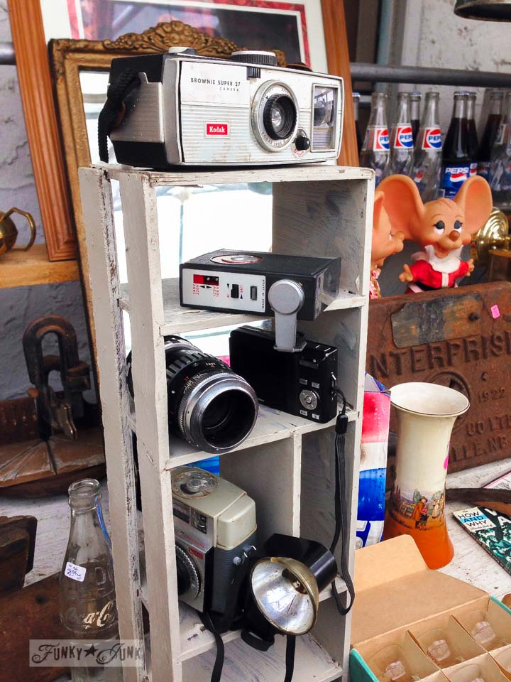 Vintage cameras / Junk finds... what would you do with ? via FunkyJunkInteriors.net
