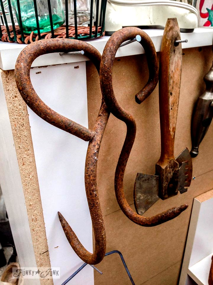 Rusty hay hooks / Junk finds... what would you do with ? via FunkyJunkInteriors.net