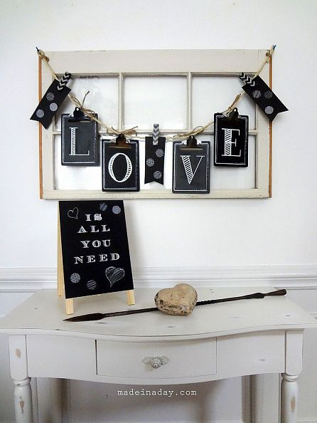 Chalkboard Clipboard Banner by Made In A Day