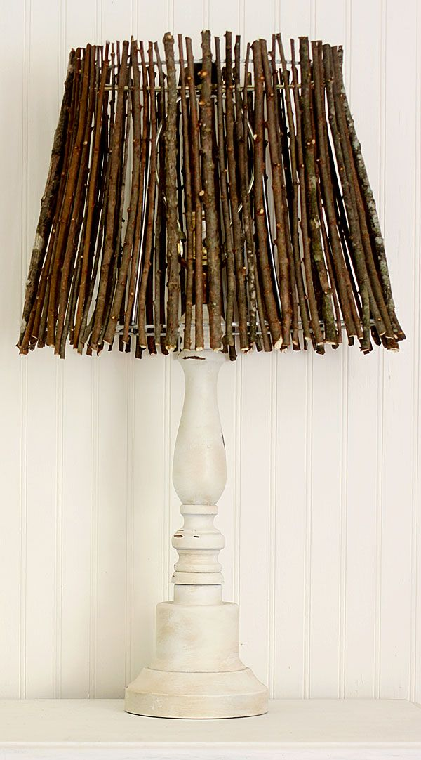 DIY Twig Lampshade By Shabby Creek Cottage