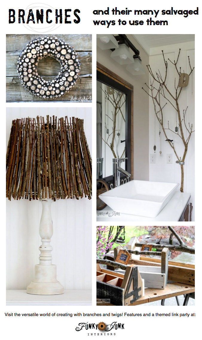 Branches And Twigs And Their Many Salvaged Ways To Use Them Via  FunkyJunkInteriors.net