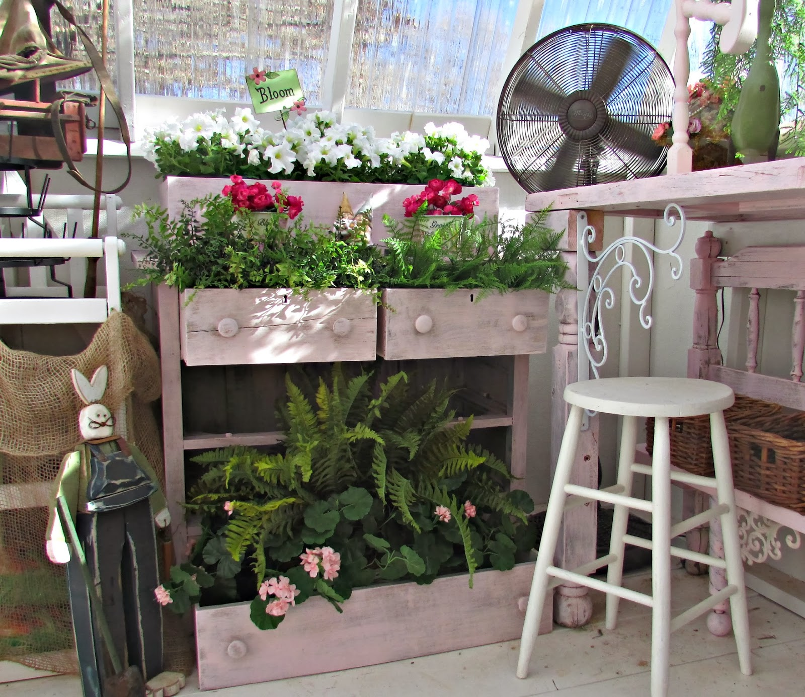 Repurposed chest of drawers planter by Penny's Vintage Home featured on FunkyJunkInteriors.net