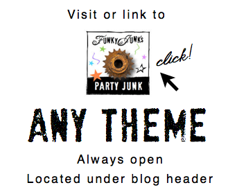 Visit or link up to themed linkups anytime on FunkyJunkInteriors.net