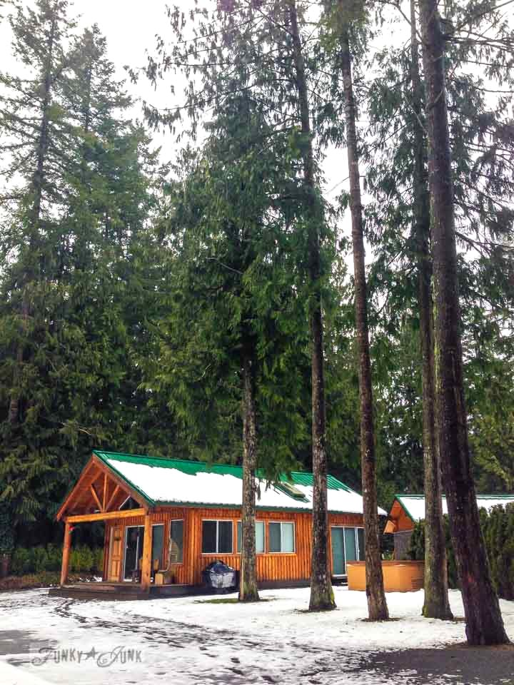 riverfront cabin in a forest / dreaming big with a friend via FunkyJunkInteriors.net